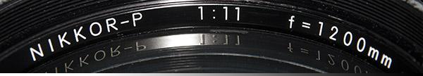 Nikon 1200mm Objektiv
