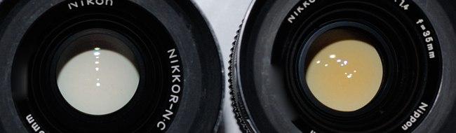 Verfärbung durch Thorium beim Nikon 35mm 1,4